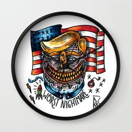 Trump is Dump Wall Clock