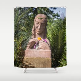 Garden Statue Shower Curtain