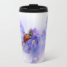 Ladybirds on Forget-me-not Travel Mug