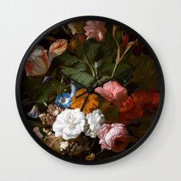 Rachel_Ruysch_-_Vase_with_Flowers_-_1700_-_Mauritshuis_151.jpg Wall Clock