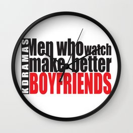Men Who Watch Kdramas Wall Clock