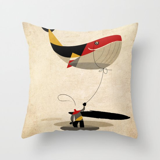thoughts on a leash Throw Pillow