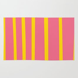 Pink and Yellow Stripes Rug