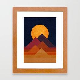 Full moon and pyramid Framed Art Print