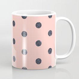 Black Polka Dots on Pink Coffee Mug