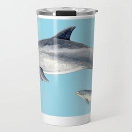 Blue Bottlenose dolphin Travel Mug