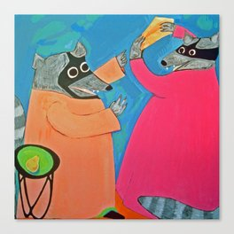 Altercation over Cheese Canvas Print