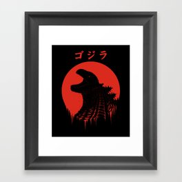 Kaiju Regeneration Framed Art Print