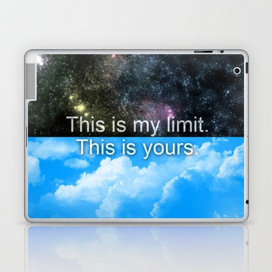 Know Your Limits Laptop & iPad Skin