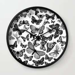 BUTTERFLY CLUSTER MONO Wall Clock