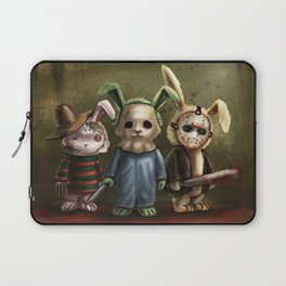 Horror Bunnies - Parody of Jason, Freddy and Michael Myers Laptop Sleeve