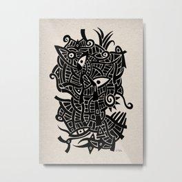 - androgynous fish - Metal Print