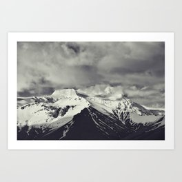 Cloudy Mountains IX Art Print