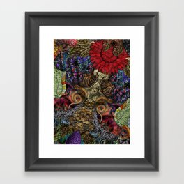 Psychedelic Botanical 11 Framed Art Print