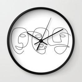 Line Carnival Wall Clock
