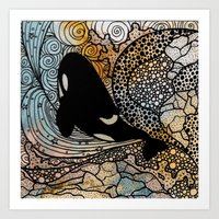 killer whale Art Prints featuring Killer Whale by Nemki
