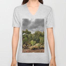 Driveway Cactus Unisex V-Neck