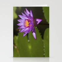 lotus Stationery Cards featuring Lotus by Maria Heyens