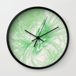Splatter in Limeade  Wall Clock