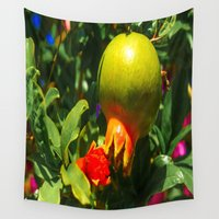 pomegranate Wall Tapestries featuring Pomegranate by Ricarda Balistreri