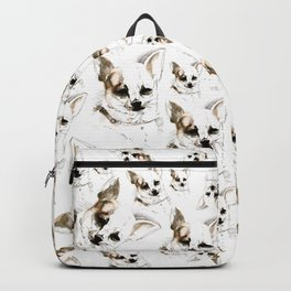 Chihuahua watercolor pattern Backpack