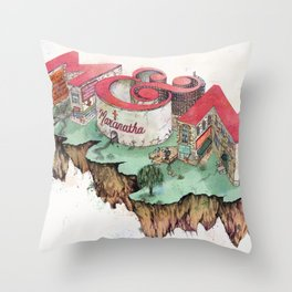 Meghan + Nicholas  Throw Pillow