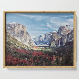 Tunnel View Yosemite Valley Serving Tray