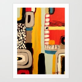 chemins Art Print