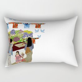Happy Valley Flower Market Rectangular Pillow