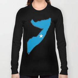 Somalia Map with Somali Flag Long Sleeve T-shirt