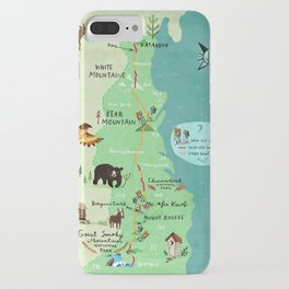 Appalachian Trail Hiking Map iPhone Case