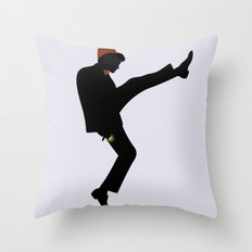 The 11th Doctor of Silly Walks Throw Pillow