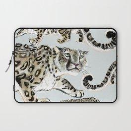 Snow leopard in ice grey Laptop Sleeve