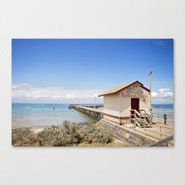 Sirens Boathouse & Kiosk Canvas Print