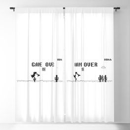 Game Over - Funny T-Rex Jumper Game Blackout Curtain