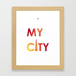 MyCity-Delhi-RedYellowB Framed Art Print