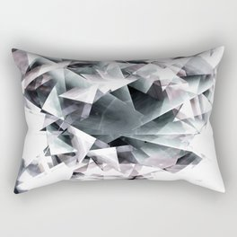 Modern Black and White Diamond Abstract Geometric Rectangular Pillow