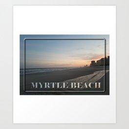 Romantic Sunset - Myrtle Beach Art Print