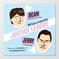 justice league Canvas Prints featuring Dean Strang & Jerry Butin - Wisconsin Justice League by Kodiak Milly