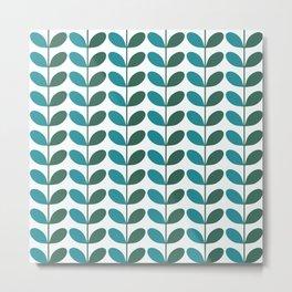 Hilly Pattern Metal Print