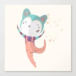 Dance Dreams (Cream) Canvas Print