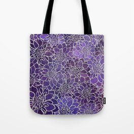 Dahlia Flower Pattern 3 Tote Bag