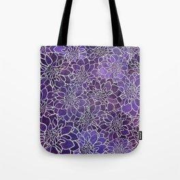 Dahlia Flower Pattern 3 Tote Bag