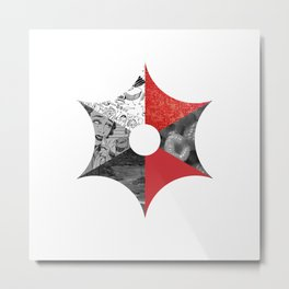 Geometrical collage Metal Print