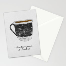 I Like Big Cups, Coffee Illustration Stationery Cards