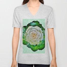 Beige Cabbage from the Garden Unisex V-Neck
