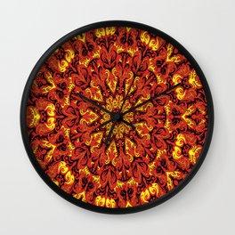 ' Fiery Dimenzion ' By: Matt Crispell Wall Clock