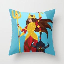 Durga Pixel Art Throw Pillow