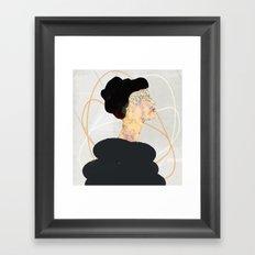 Black Swan Framed Art Print