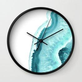 Aqua Blue Agate Print Wall Clock
